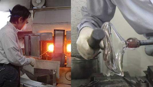 ガラスの靴制作中画像