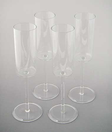 パイレックスガラスのシャンパングラス特注品