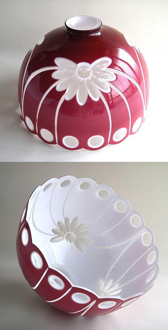 美の壺ガラスのランプ