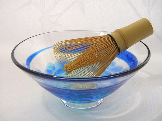 【ガラス抹茶茶碗】平茶碗...