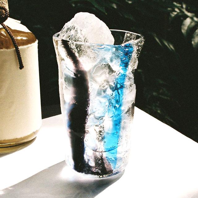 【焼酎グラス】泡巻き・ブルー黒(青黒)