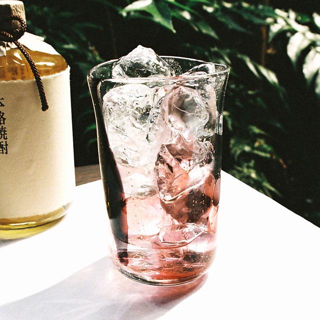 【焼酎グラス】泡巻き・レッド(赤黒)