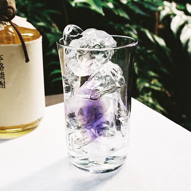 焼酎グラス【色金箔グラス】ムラサキ(紫)