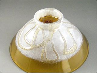 ガラス茶碗・琥珀